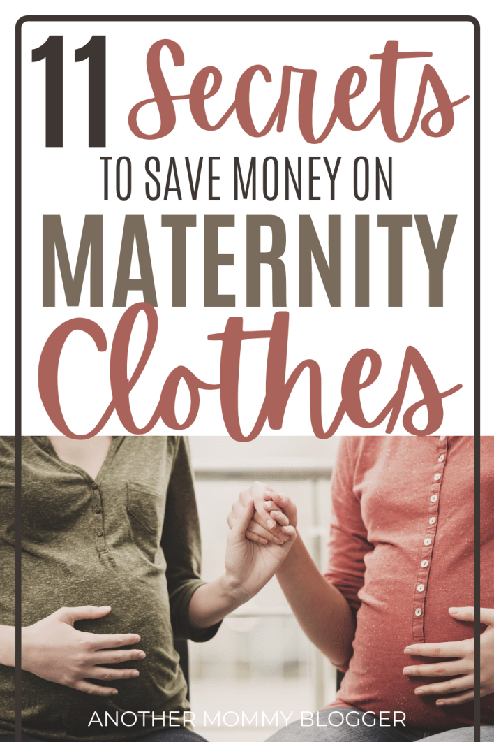Pregnancy tips to save money on maternity women's fashion. #maternityclothes #savemoney #pregnancy