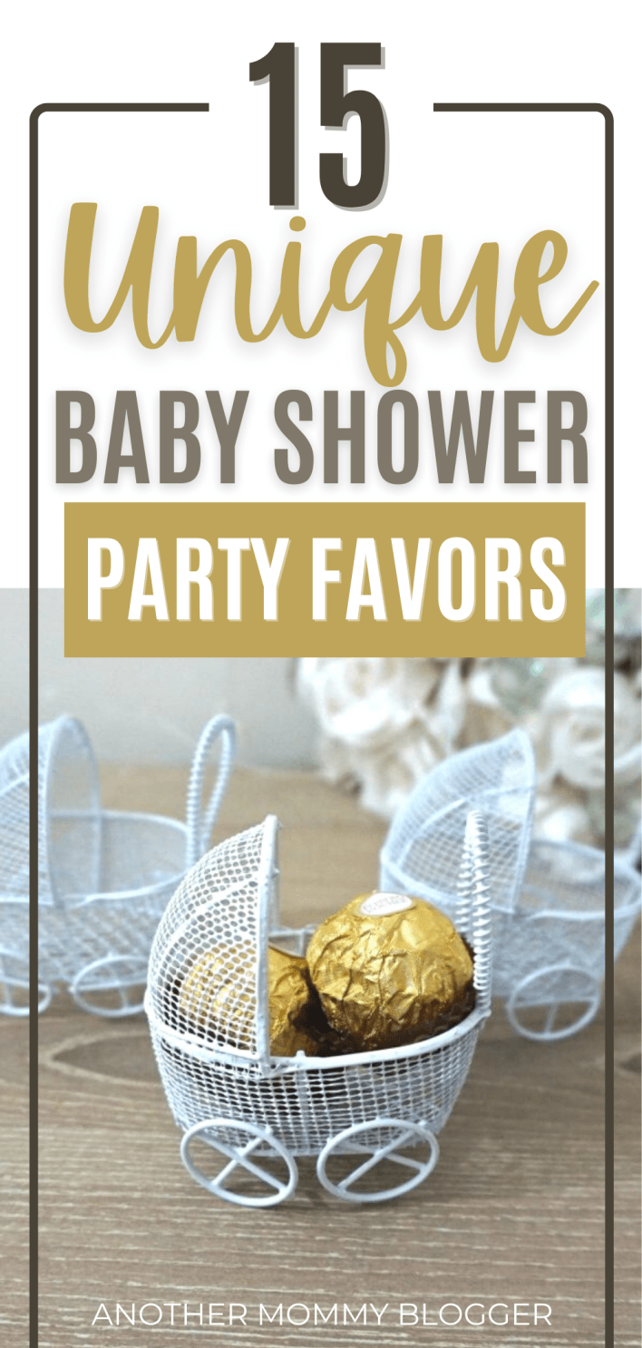 This is a list of baby shower party favors ideas that are cute, unique and cheap. #babyshower
