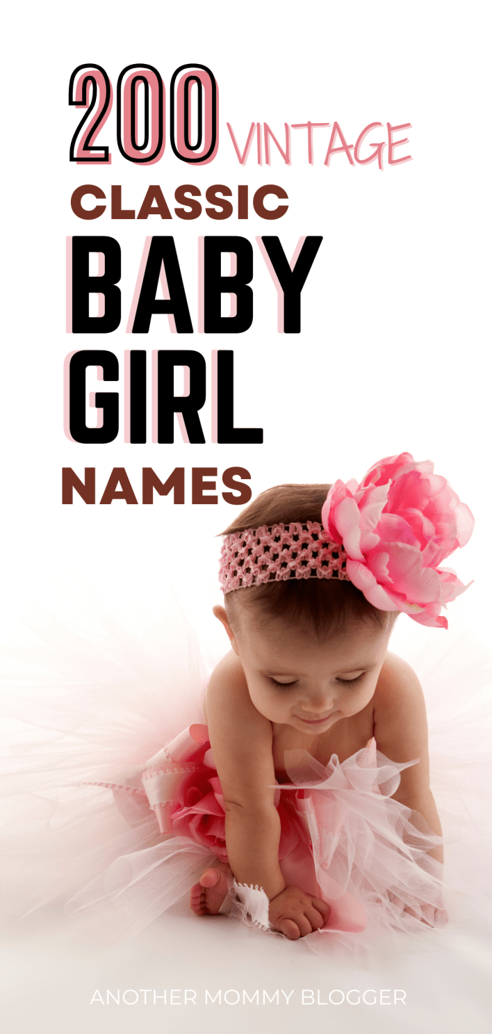 These are vintage girl names that are so sweet. These pretty classic girl names are so charming. On this baby girl names list you'll find unique and uncommon vintage girl names as well as more traditional old fashion girl names.