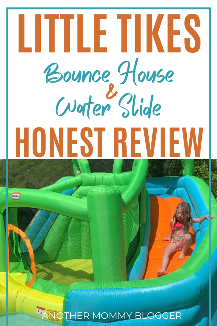 Are you looking for fun outdoor toys for kids. This inflatable waterslide by little Tikes has been so fun. #watertoys #summertoys