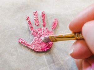 Painted Handprint Keychains