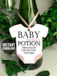 Baby making potion baby shower prize