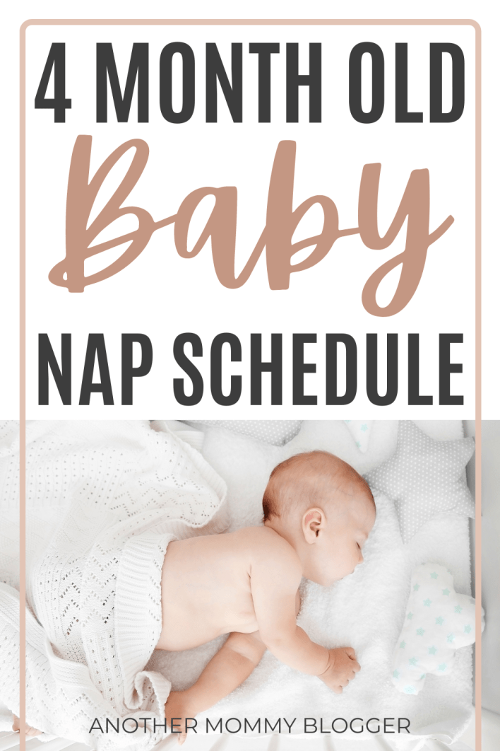 This is a sample nap schedule for a 4 month old baby. #babysleeptips
