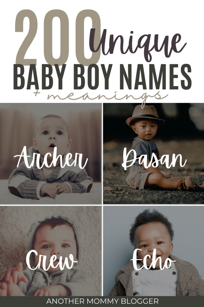 This is a list of unique baby boy names and their meanings. If you want a rare name no one has for your baby boy then this is where you'll find it. #babyboynames