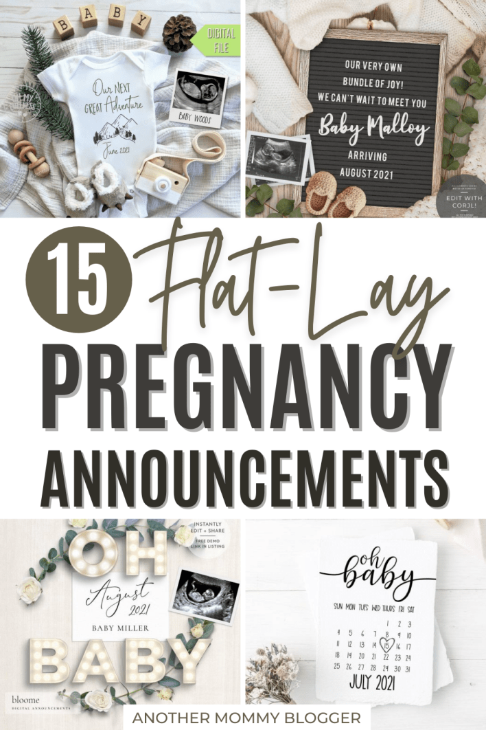 15 fun ways to tell your family and friends you're pregnant. Try one of these cute social media pregnancy announcement photos.