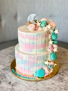 Drip Gender Reveal Cake