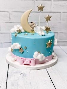 Twinkle Little Star Gender Reveal Cake