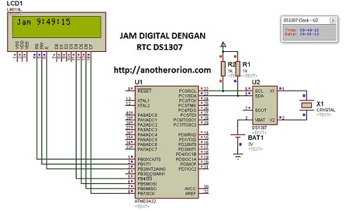 jam digital RTC DS1307