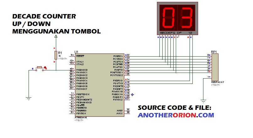 program decade counter mikrokontroler atmega codevision avr