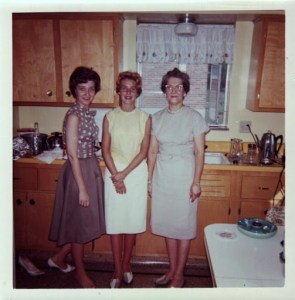 I've used this picture before but I ahve to add it again. The heels! The pearls! The poses! The fact that this is my Grabdma's kitchen in Cincinnati, Ohio!