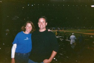 We posed at our seats before the infamous Steve Bartman game began. We had know idea we were about to witness Cubs lore.