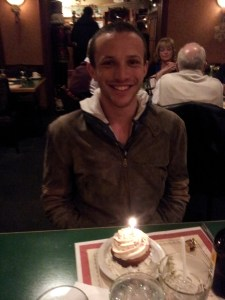 Vinnie enjoying his pre-pie cupcake