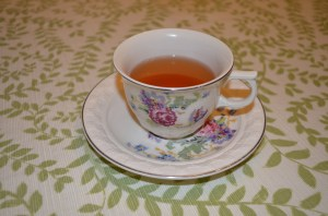 A cup of tea tastes extra special in Grandma's china cup (and you can scoop up those air bubbles on your teaspoon for extra good luck.)