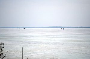 April ice fishermen