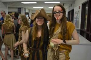 A Peter Pan pirate and Arawak Tribe member