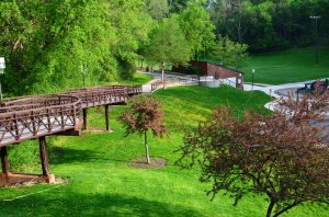 A spring view of Jones Park