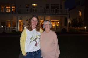 Here I am with Aunt Pat midway through Saturday night's festivities.