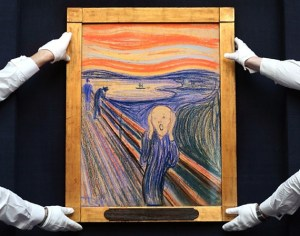 I say Edvard Munch's inspiration for this painting was the small toy lodged under its' subject's toe.