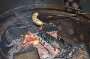 A roasted banana turned out to be delicious.