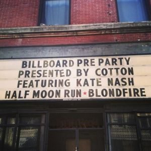 Half Moon Run and Blondfire played at Lolla but we saw them for free!
