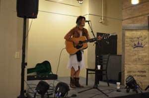 We saw concerts in a variety of venues, including Copper Rock Coffee House. This is Nicole Rae, who performed a powerful solo set and later joined her band the Traveling Suitcase.