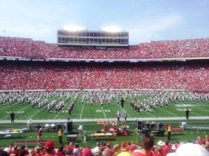 Badger band halftime