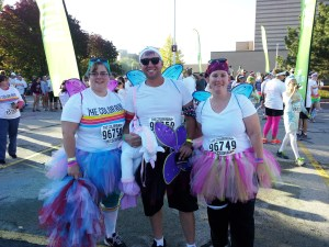 How can you not smile as you run through a rainbow, surrounded by butterflies and tutus?