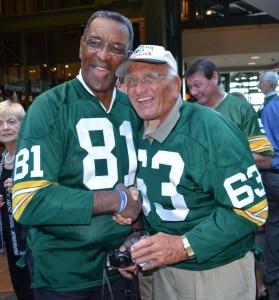 Between the two of them, Marv Fleming and Fuzzy Thurston earned six Super Bowl titles and four NFL championships.