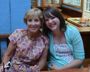 Grandma Peggy and Molly.