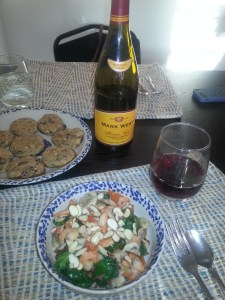 Our Iron and Wine meal.