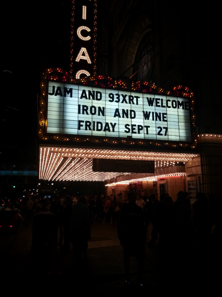 An evening of Iron and Wine (A guest post by Katherine)
