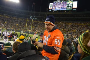 This fan gets the award for most revolting ticket holder at Lambeau Field.