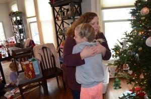 family christmas Jenna olivia hug