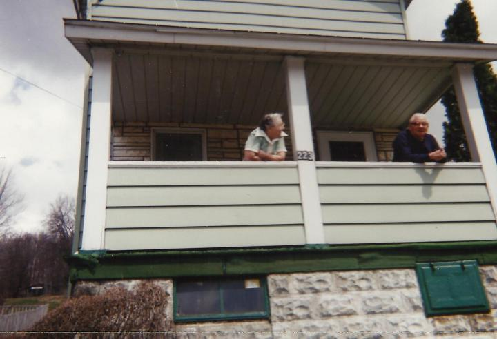 Pap and Baba on their front porch in Colver