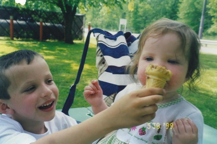 Vinnie and Molly's first ice cream cone