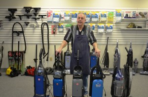 I'm just a girl, standing in front of a boy, and asking him to help me clean my carpets. Seriously, though, Paul at Appleton Vacuum is a great guy and you should buy your vacuum cleaners from him.