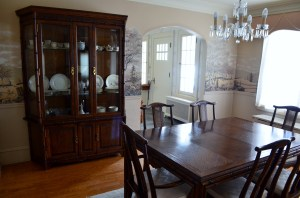 The new dining room