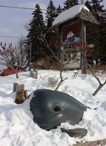 The poor, frozen, Thirsty Whale has been serving lake visitors for more than 100 years.