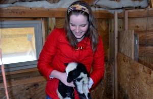 Molly and girl lamb