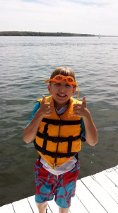 I think my little friend Jack, first in the water and bravest of all, summed up our weekend pretty nicely.
