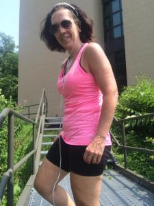 Another similarly ages friend, Rhonda, enjoys boot camps so much she keeps tires to flip in her backyard.