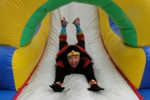 Kathy on the slide