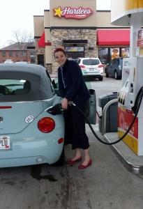 Molly getting gas