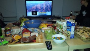 From snowy Harlem, here is Charlie's appetizer spread.