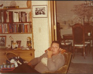 Dad in the family room