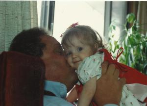Katherine and Grandpa Ron