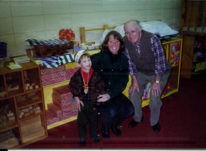 Grandpa Fey, Molly and Me at Community Nursery School