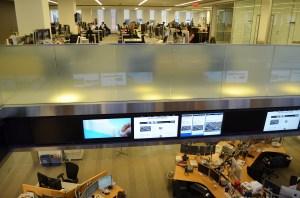 Split level news room
