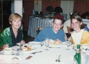 Mom, Charlie Kathy in Egypt