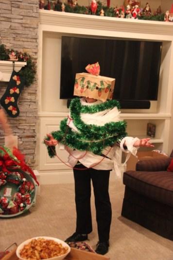 Grammy as a christmas tree